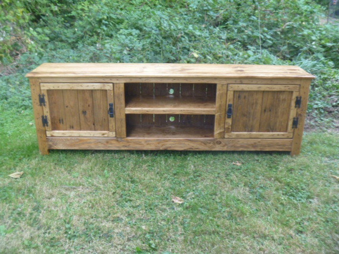 Rustic pallet tv stand cabinet sideboard