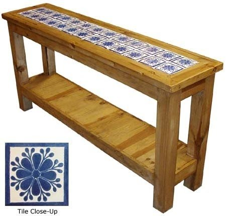 Rustic Pine Console Table 10