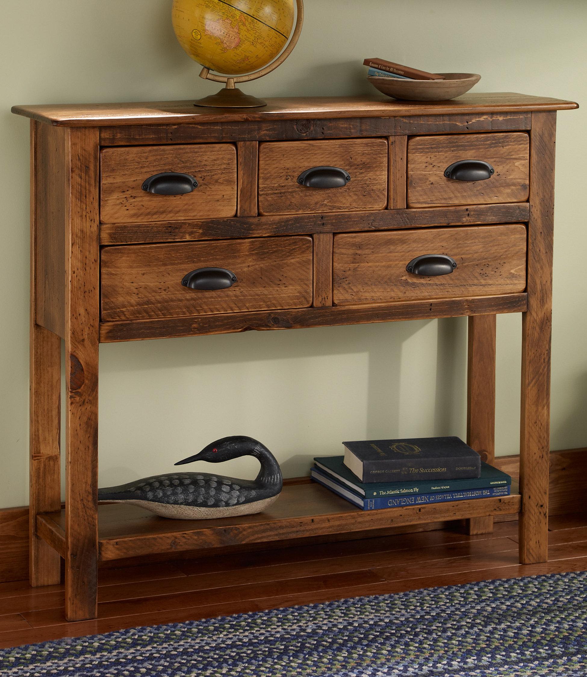 Bon Rustic Pine Console Table 2