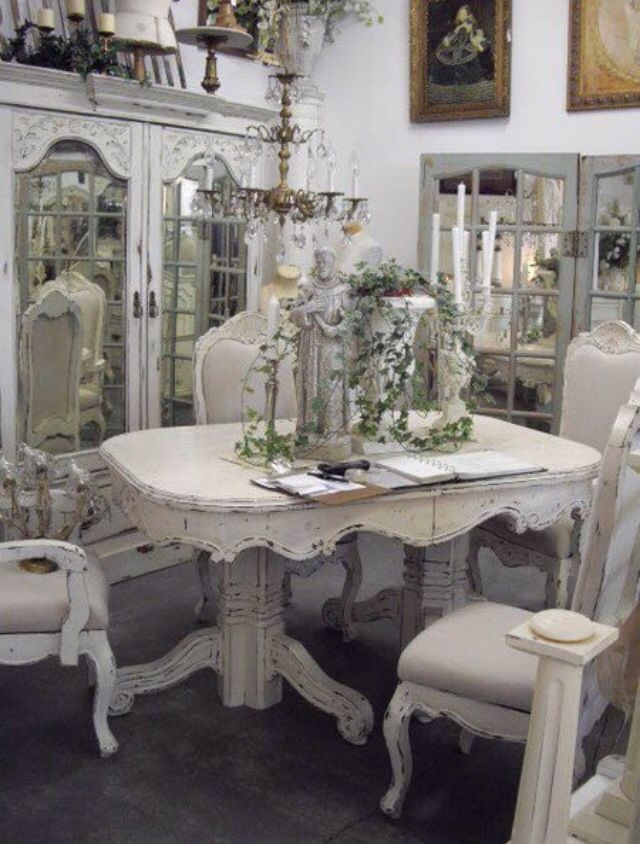 Exceptional Shabby Chic White Table And Chairs