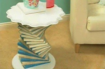 Lovely Side Table Made Of Books