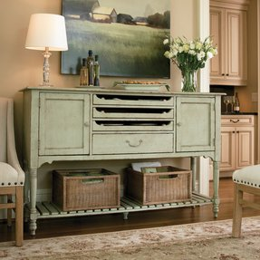 Sideboard buffet with wine rack