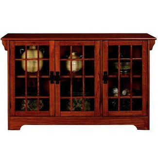 Sideboard cabinet with glass doors
