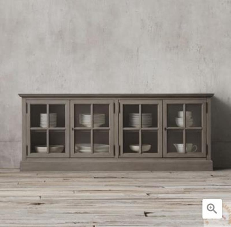 sideboards and buffets with glass doors foter rh foter com Glass Front Sideboard Glass Sideboard Buffet Table