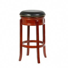 Solid wood swivel bar stools 3