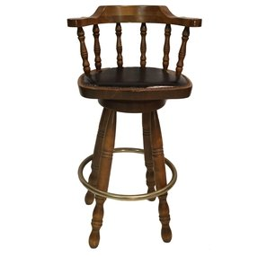 Solid wood swivel bar stools
