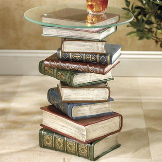 Stacked Book End Table