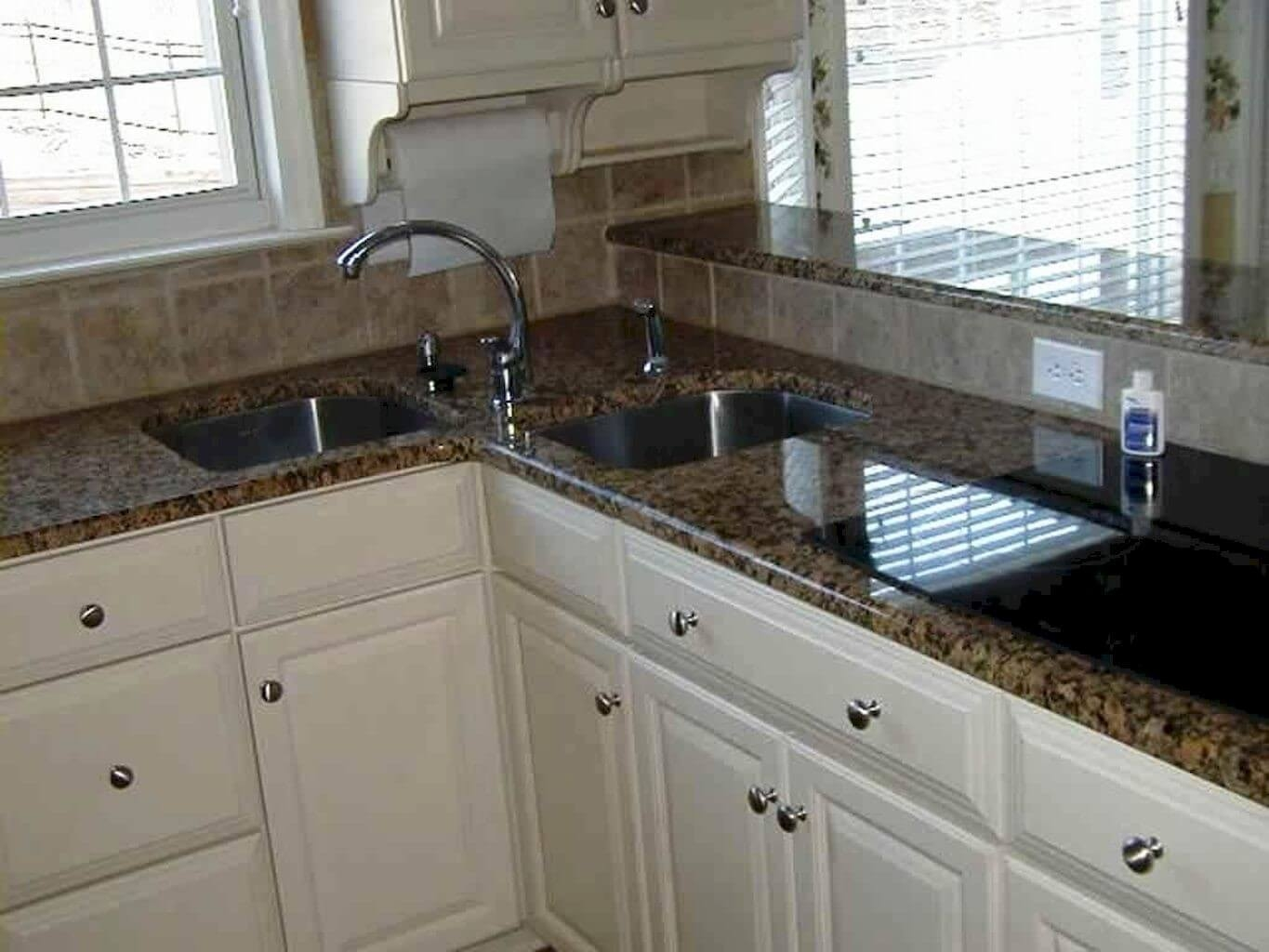 Stainless steel corner sinks for kitchens