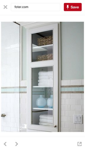 Storage shelves for bathroom 1