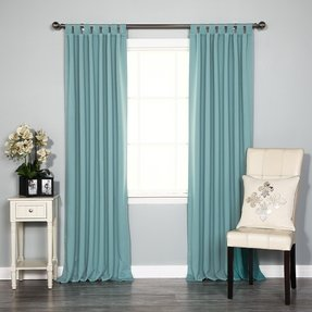 Tab top insulated curtains 1