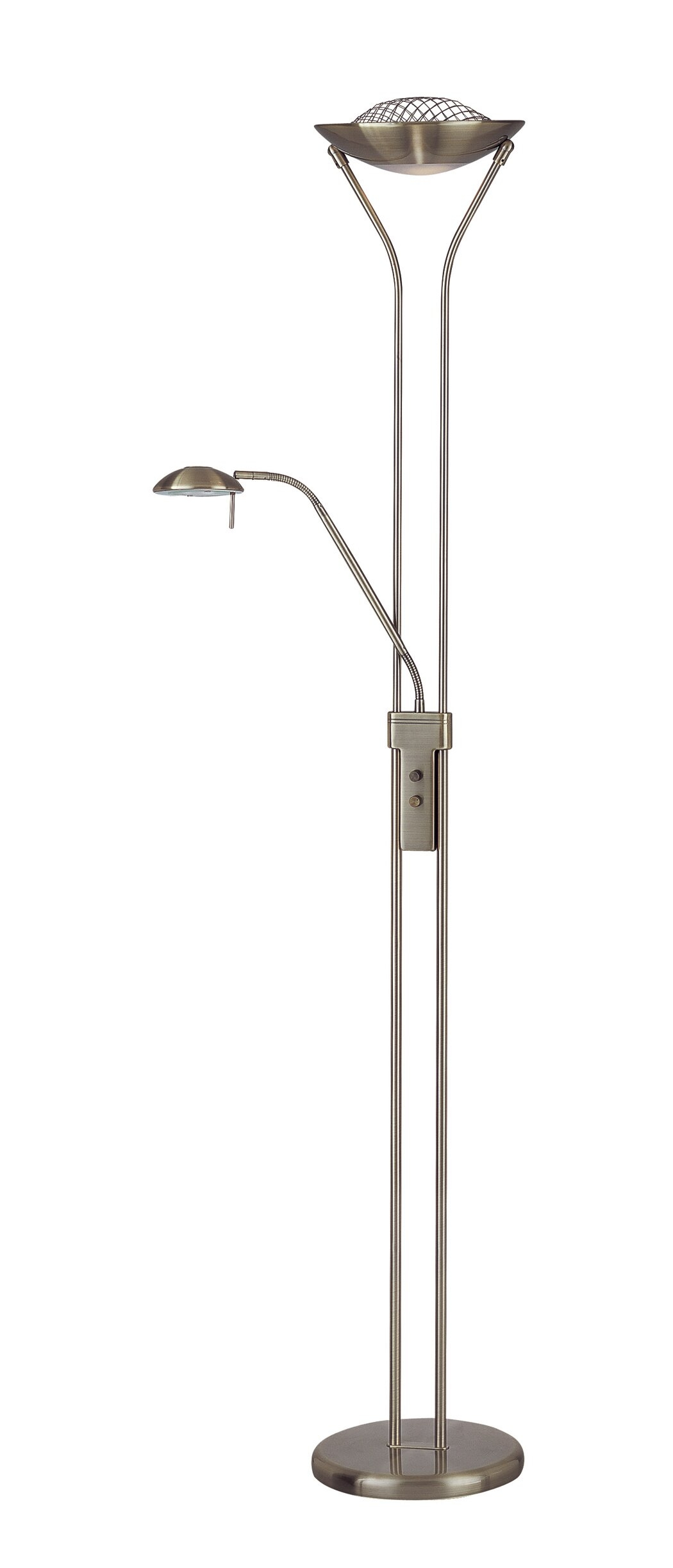 Torchiere Floor Lamp and Reading Light Combination