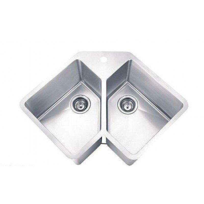 Ordinaire Undermount Corner Kitchen Sinks Stainless Steel