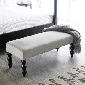 Upholstered bench for end of bed 4
