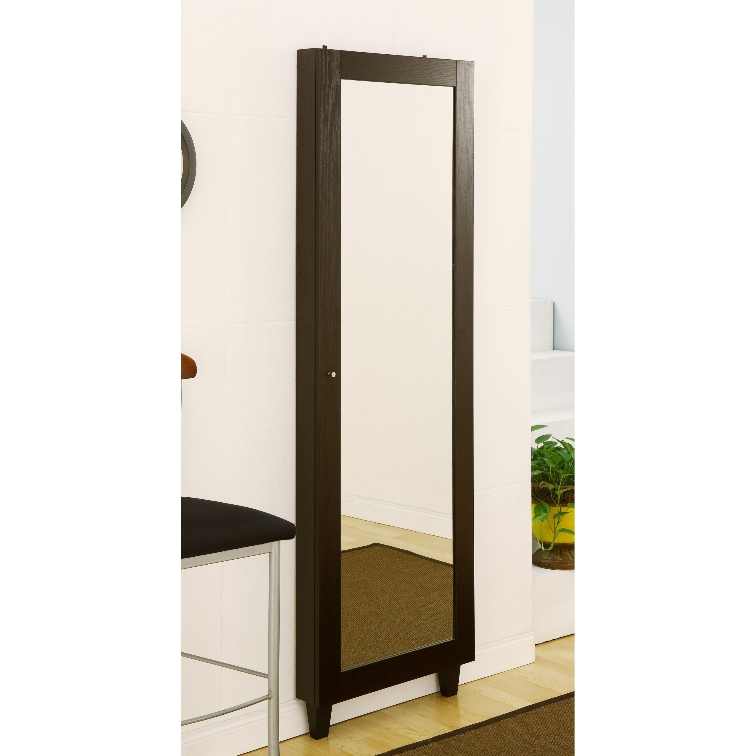 wall mirror with jewelry storage foter rh foter com full length mirror with storage full length mirror with shelves behind