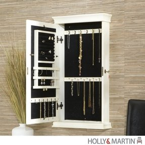 Wall Mounted Jewelry Box With Mirror Foter