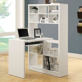 White Corner Desk With Shelves Ideas