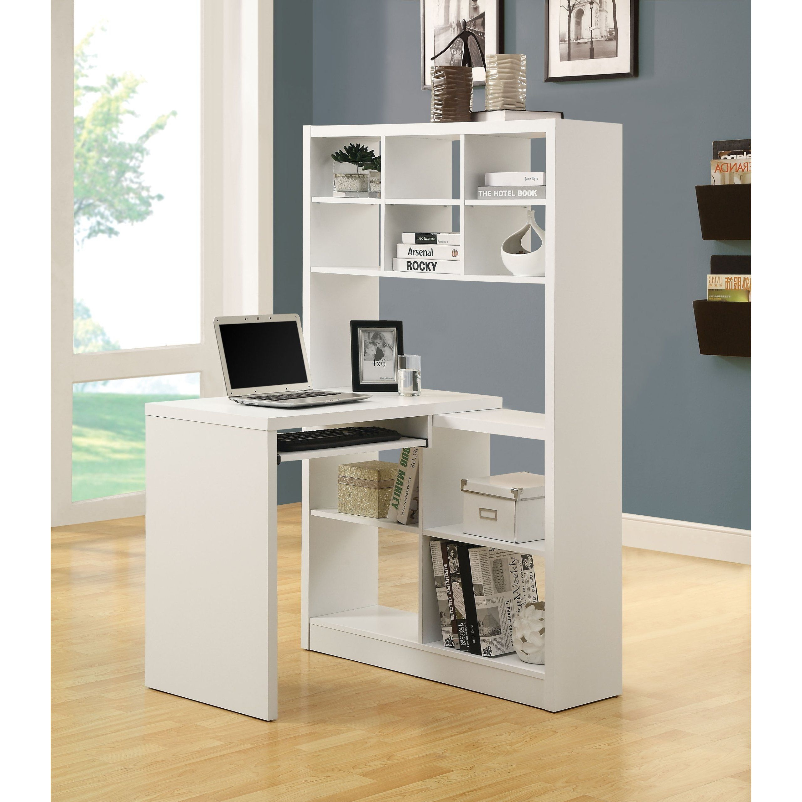 White Corner Desk With Shelves - Ideas on Foter
