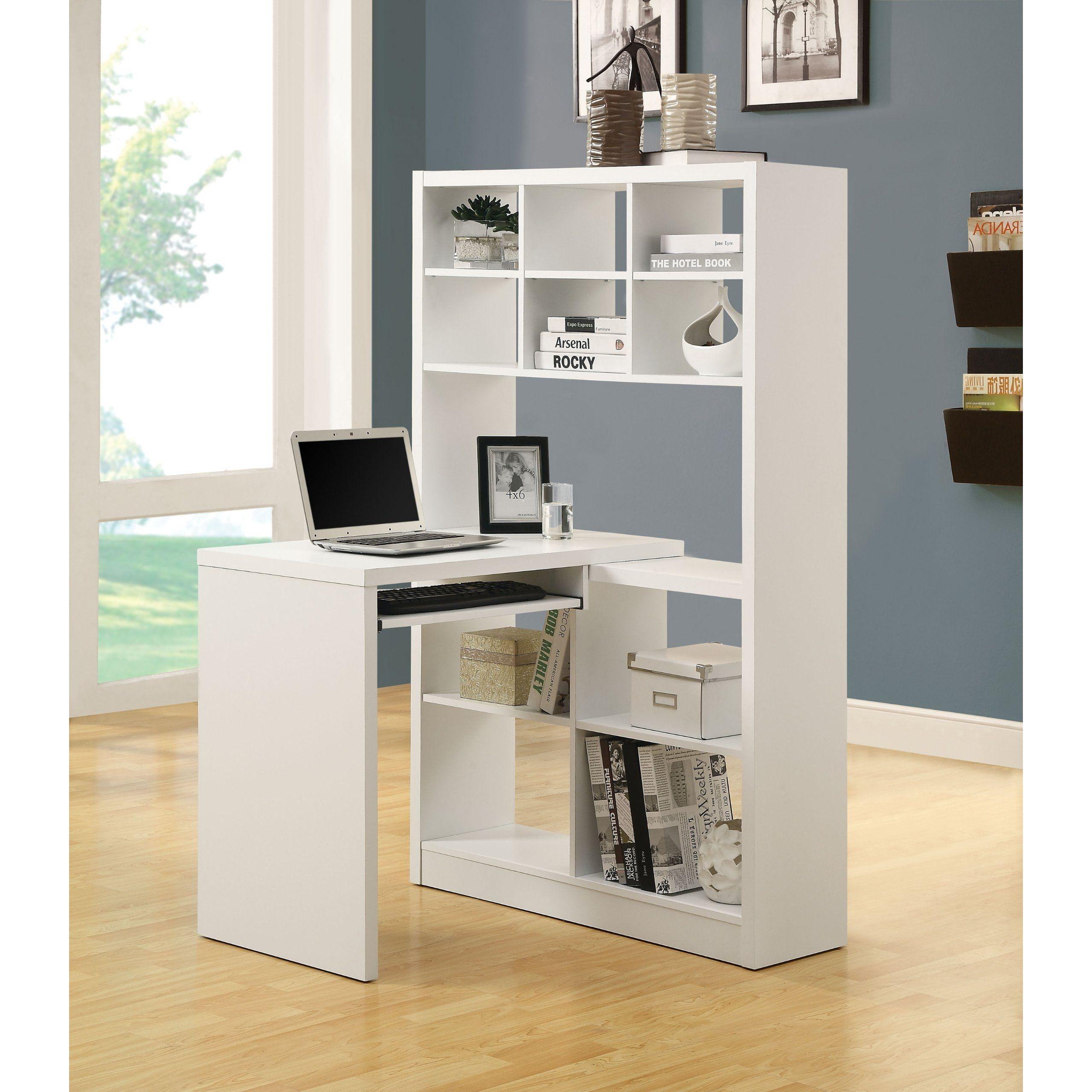 Delicieux White Corner Desk With Shelves   Ideas On Foter