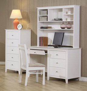 White Desk With Storage