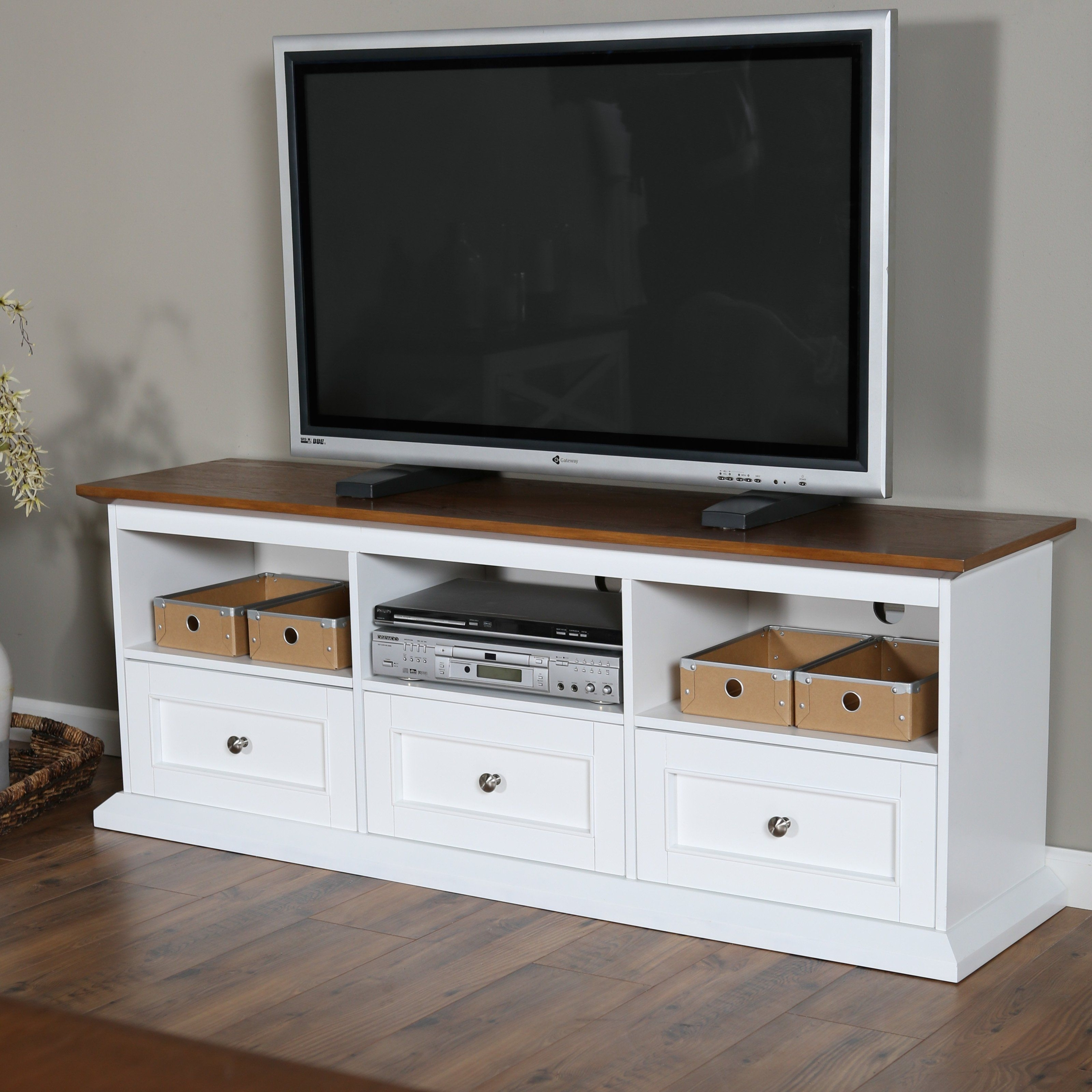 Beau White Wooden Tv Cabinet