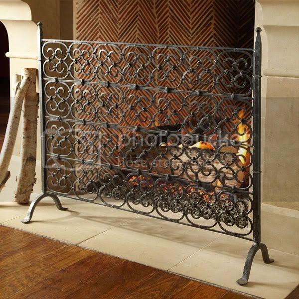 decorative fireplace screens wrought iron ideas on foter rh foter com Glass Tile Fireplace Surround Ideas Fireplace Ideas