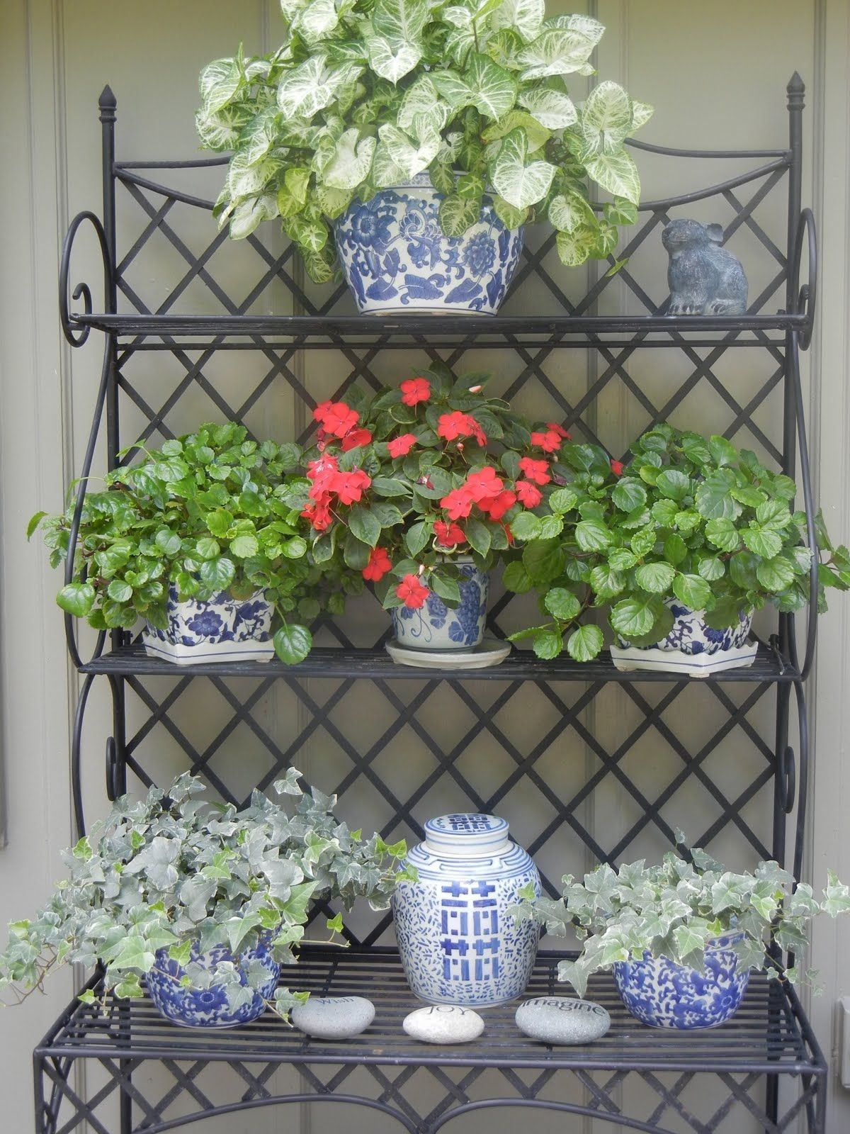 Ordinaire Wrought Iron Bakers Rack Outdoor   Ideas On Foter