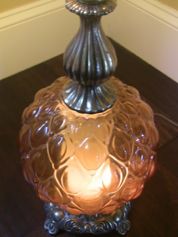 Amber Glass Table Lamp 12