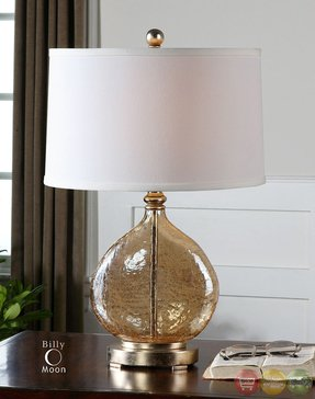 Amber glass table lamp foter amber table lamp aloadofball Image collections