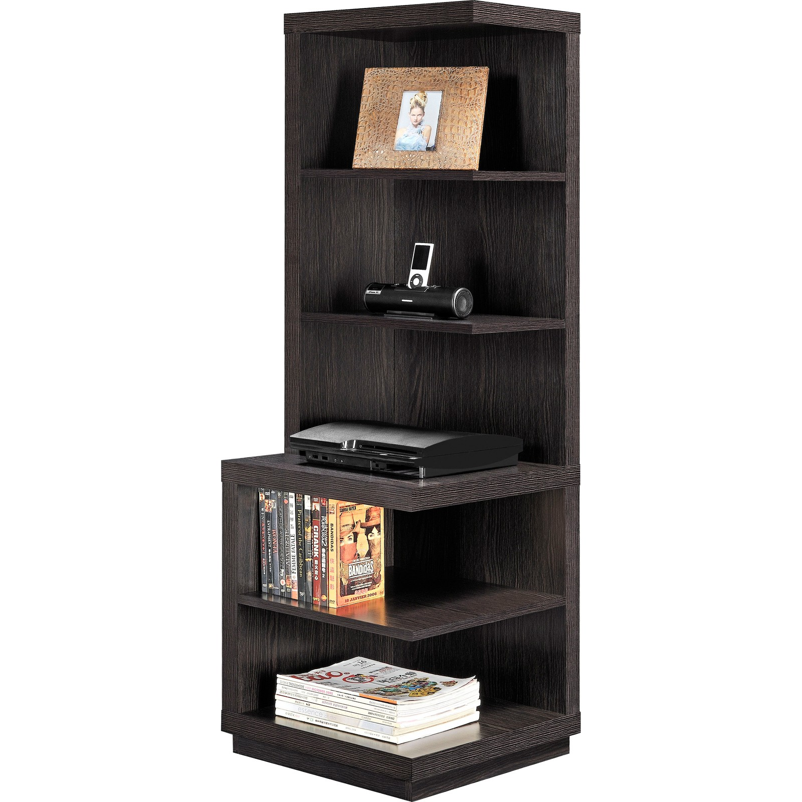 Audio pier stand entertainment center tv furniture rack dvd cd