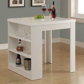 Bar table with storage