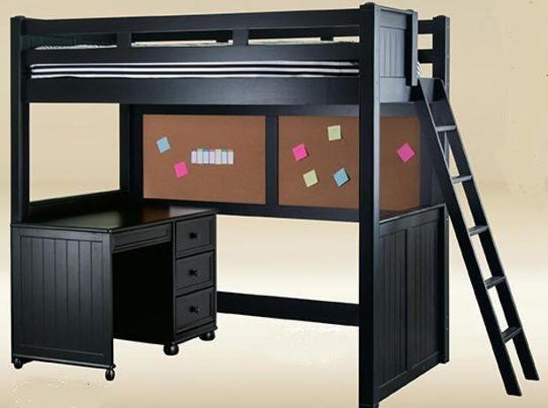 black loft bed with desk foter rh foter com black bunk bed with desk black metal loft bed with desk and futon