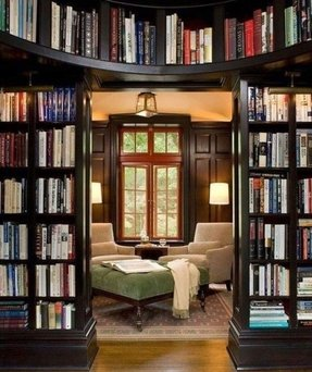 Book shelf with doors