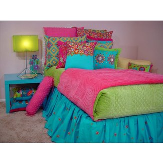 Bright colored quilts