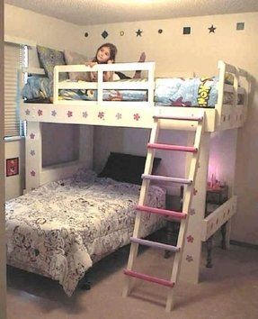 Bunk bed with room under