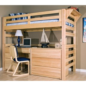 Wood Bunk Bed With Desk Underneath Ideas On Foter