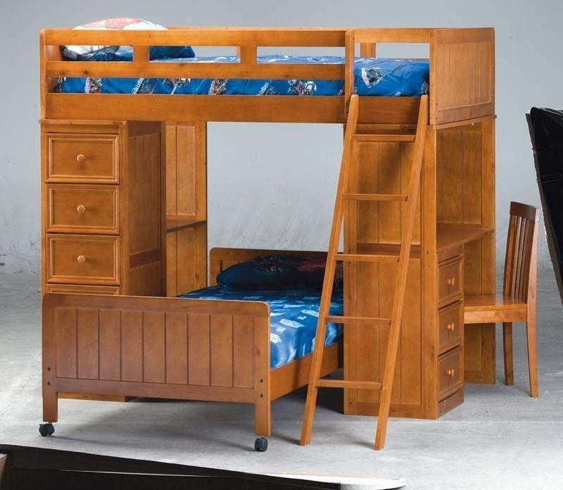 Bunk With Desk
