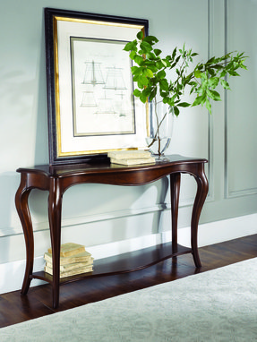 Cherry queen anne console table 1