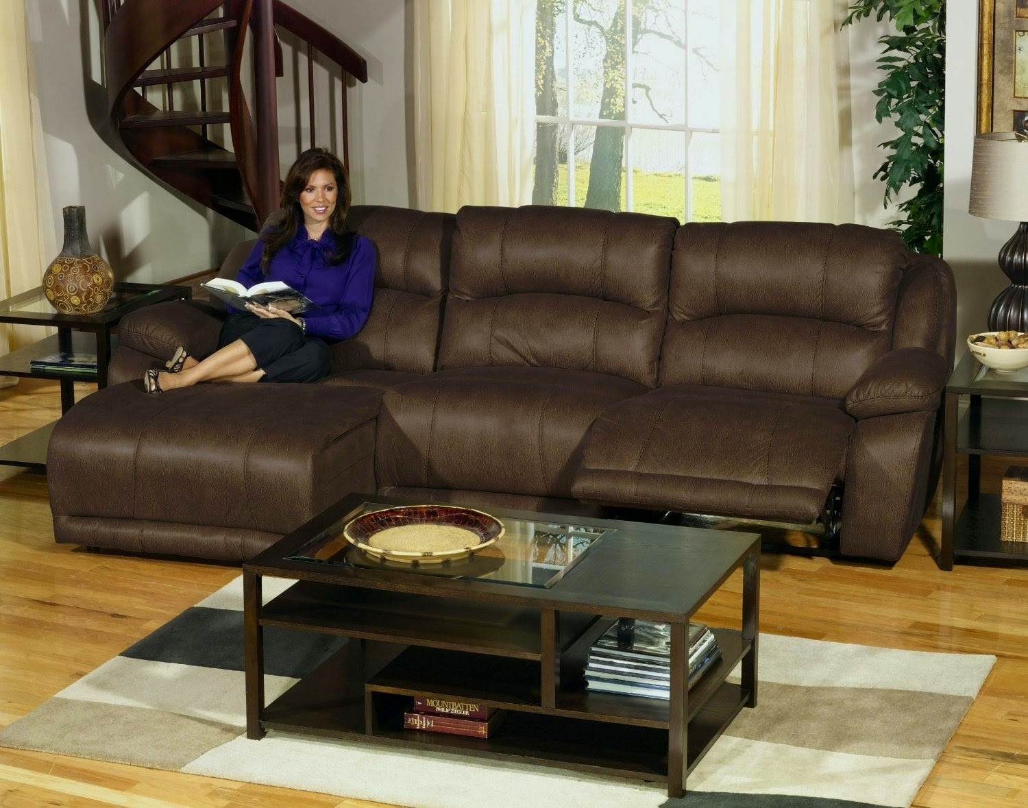 Compass Chaise Sofa. Sectional Sofa With Recliner ...
