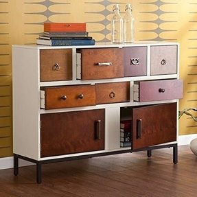 Console Side Accent Table Sideboard dining room buffet with drawers and shelves