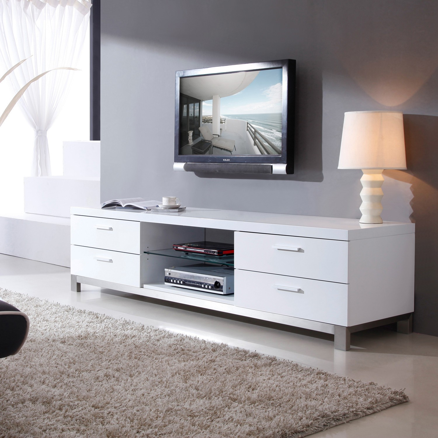 Contemporary White Tv Stand Ideas On Foter