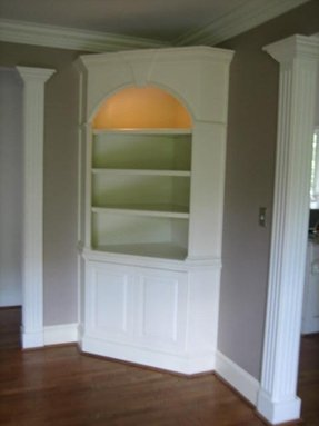 Corner Cabinet Bookcase 1