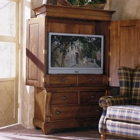 Corner entertainment armoire
