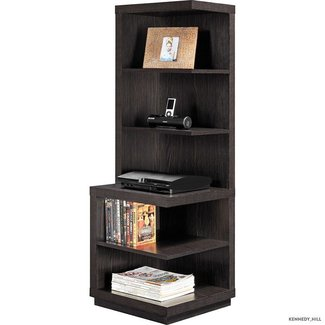 Corner storage system shelf furniture media cabinet bookcase home decor
