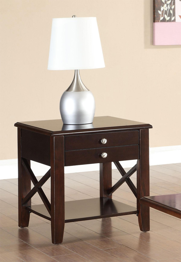 Dark Cherry End Tables 1