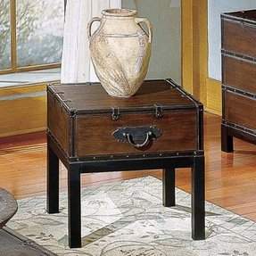 Dark cherry end tables 7
