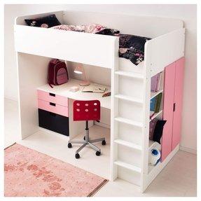 Marvelous Girls White Loft Bed With Desk Ideas On Foter Interior Design Ideas Clesiryabchikinfo