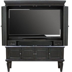 Entertainment armoire with doors