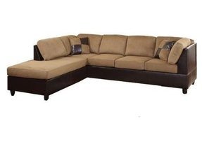 Faux leather sectionals