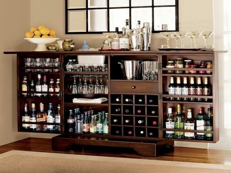 Charmant Fold Out Bar Cabinet 13