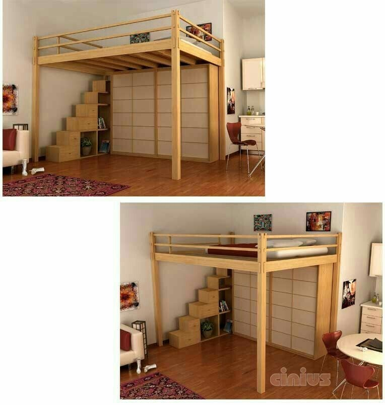 Full Size Loft Bed With Desk Underneath   Ideas On Foter